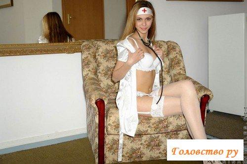 Сладкая попочка медсестры в эротике