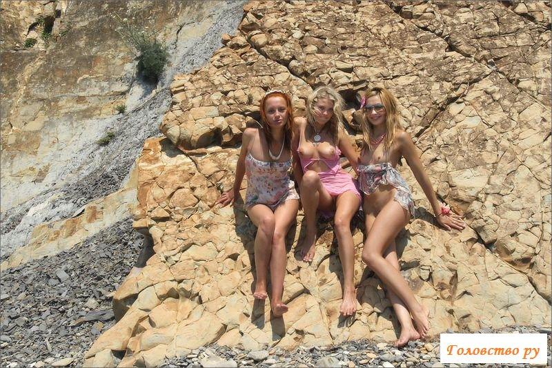Девчонки пошло веселятся на море