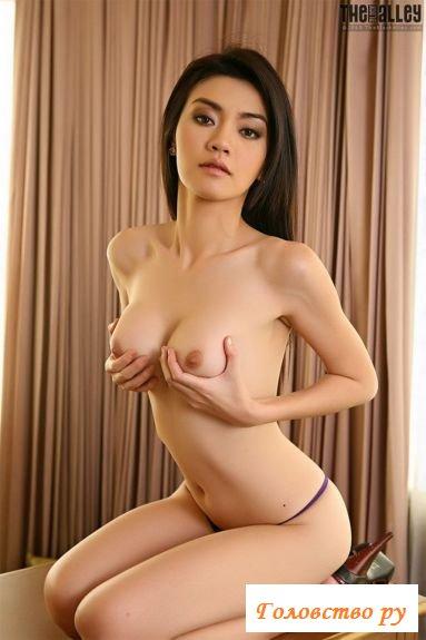 Смазливая японочка с тощим телостроением