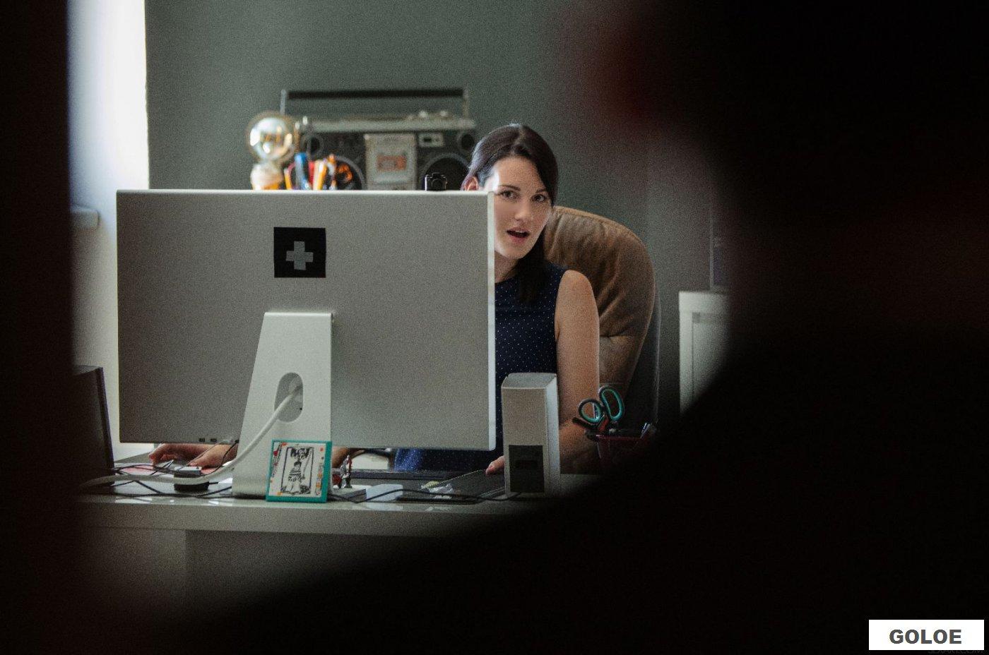 Красивая оральная ебля в офисе